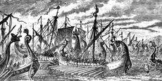 Il y a 2.500 ans, au sein de la démocratie athénienne de l'époque, le stratège Thémistocle convainquit ses concitoyens de mettre en commun les produits de l'exploitation de la mine d'argent du Laurion: 200 navires en furent financés, et, en 480 av. J-C, l'envahisseur Xerxès fut vaincu à Salamine.