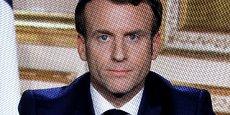 Allocution télévisée d'Emmanuel Macron, le 16 mars 2020 depuis le palais de l'Élysée.