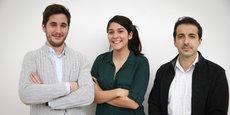 De gauche à droite : David Siret, Anaïs Barut, Arnaud Dubois, fondateurs de DAMAE.