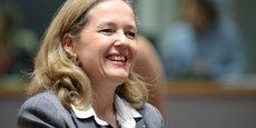 L'Espagne propose sa ministre de l'Économie, Nadia Calvino (en photo), pour présider l'Eurogroupe.