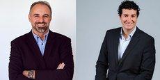 Christophe Gardent, président de Ach@t Solutions, et Jérémy Certoux, nouveau DG d'Agysoft (filiale d'Ach@t Solutions).