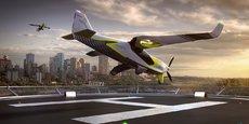 Ascendance Flight Technologies présente son appareil ATEA, développé à Toulouse, comme une alternative à l'hélicoptère.