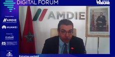 Hicham Boudraâ, directeur général par intérim de l'AMDIE, lors de sa participation le 30 juin dernier, au Digital Forum de La Tribune Afrique.