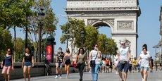 LE PORT DU MASQUE OBLIGATOIRE ÉTENDU À PARIS, NOTAMMENT AUX CHAMPS-ELYSÉES