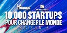 Les lauréats 2020 du prix 10.000 startups pour changer le monde, en présence de Cédric O, le secrétaire d'Etat à la Transition numérique, et de Kat Borlongan, directrice de la Mission French Tech.