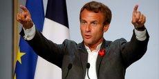 En costume mais sans cravate, Emmanuel Macron s'est dit ravi de retrouver le milieu des startups, au cours du premier événement de grande ampleur organisé à l'Elysée depuis le confinement.