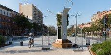 L'arbre à algues est installé sur les allées Jean-Jaurès, l'une des avenues les plus denses en matière de circulation automobile à Toulouse.
