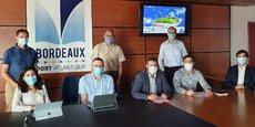 Représentants de Nexeya, Storengy et du GPMB lors du lancement du projet H2Bordeaux.