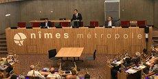 Franck Proust présidait le conseil d'agglomération de Nîmes Métropole le 21 septembre 2020.