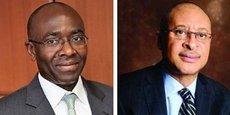 Hippolyte Fofack, économiste en chef et directeur de la recherche et de la coopération internationale d'Afreximbank et Pat Utomi, président du Comité panafricain du commerce et de l'investissement du secteur privé (PAFTRAC) de l'Union africaine.
