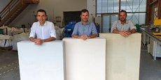 De gauche à droite, Charles Neuville, CFO, Mathieu Neuville, CEO, et Manuel Mercé, CTO, de Materr'Up