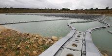 La centrale flotovoltaïque de Saint-Maurice-la-Clouère, près de Poitiers, couvre 4,5 hectares d'eau brute.