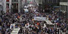 Une manifestation contre les mesures sanitaires imposées à Berlin.