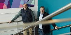 Pascal Hebrard et Pierre Niergue, cofondateurs et dirigeants de l'agence conseil en communication Wonderful, à Montpellier.