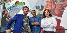Maxime Feyeux, Jean-Luc Treillou et Kevin Alessandri, le trio à l'origine de Treefrog Therapeutics.