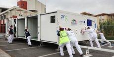 Cegelec Défense et le CHU de Toulouse ont mis au point un hôpital mobile déployable en 40 minutes.