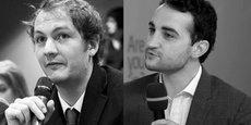 Mathieu Quiniou et Yann-Maël Larher, co-fondateurs du cabinet Legal Brain Avocats (*).