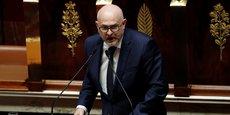 Laurent Pietraszewski, secrétaire d'État aux retraites, lors d'un débat à l'Assemblée nationale à propos de la réforme des retraites, le 17 février 2020.