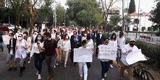 MANIFESTATION AU MEXIQUE APRÈS L'ASSASSINAT D'UN HOMME D'AFFAIRES FRANÇAIS