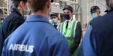 À l'occasion d'une visite éclair à Airbus, Gabriel Attal est venu soutenir l'apprentissage à Toulouse.