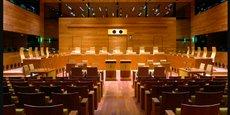 Une salle d'audience de la Cour de justice de l'Union européenne.