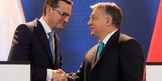 De passage, mardi, à Varsovie, le Premier ministre hongrois Viktor Orban (à dr.) avait parlé d'une bonne chance pour un accord. (Ici en présence du premier ministre polonais, Mateusz Morawiecki)