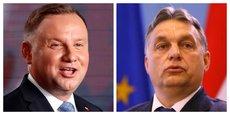 Le président polonais Andrzej Duda, et le Premier ministre hongrois Viktor Orban