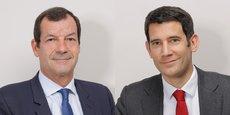 Thierry Derez (à gauche), PDG du groupe Covéa, et Paul Esmein, directeur général adjoint, misent sur la croissance organique en France et restent attentifs aux opportunités de croissance externe dans la réassurance.
