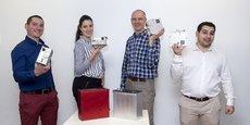 Luc Pouyadou, Florence Robin, Marc Beranger et Maxime Di Meglio, les cofondateurs de Limatech, comptent être acteur de l'avion vert, avec leurs batteries au lithium.
