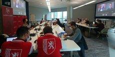 Le quartier générale de la délégation des startups de Nouvelle-Aquitaine au CES 2021 100% en ligne.