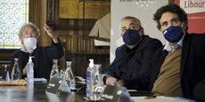 Michel Pétuaud-Létang, Michel Ohayon et Philippe Buisson ce 13 janvier à la mairie de Libourne.