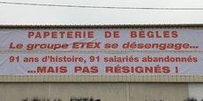 La fermeture du site de la papeterie de Bègles est prévue le 31 mars 2021.