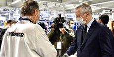 En visite dans les locaux de Liebherr Aerospace à Toulouse le 22 janvier, le ministre de l'Économie a voulu se montrer rassurant sur l'avenir de la filière aéronautique.