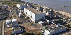 La centrale nucléaire du Blayais est juste au bord de l'estuaire de la Gironde.