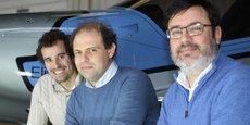 Les trois cofondateurs d'Elixir Aircraft : Cyril Champenois, Arthur Léopold-Léger et Nicolas Mahuet.