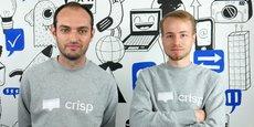 Avec Crisp, les ambitieux frenchies, Baptiste Jamin et Valerian Saliou,  s'attaquent aux géants américains de la relation-Client.