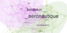 La startup bordelaise First Link, spécialisée dans la data intelligence, a cartographié le bruit numérique autour de l'aéronautique en Nouvelle-Aquitaine en 2020.