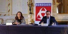 Claudine Bichet, adjointe au maire en charge des finances, et Pierre Hurmic, maire de Bordeaux, le 8 février 2021.