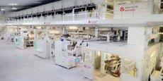 L'activité de la filière bois poursuit son redressement : vue d'une unité de production de papier d'emballage du groupe Gascogne.