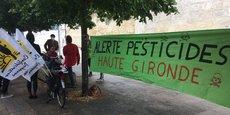 Une manifestation contre l'utilisation de pesticides dans la viticulture à Bordeaux en juillet 2020.