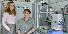 Sarah Lamaison et David Wakerley, les cofondateurs de la startup bordelaise Dioxycle.