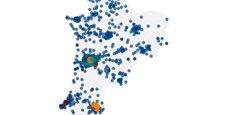 La Tribune publie la carte à jour des implantations d'antennes 5G en Nouvelle-Aquitaine par les quatre opérateurs télécoms : Free Mobile, Bouygues Telecom, Orange et SFR.