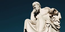 Statue de Socrates à Athènes.