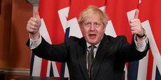 Le Premier ministre britannique Boris Johnson, après la signature du deal le 30 décembre 2020 fixant les conditions de la sortie définitive du Royaume Uni de l'Union européenne.