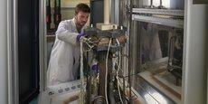 Comme ce banc de test, Genvia devra mener à maturité industrielle la technologie des électrolyseurs haute température à oxyde solide, pour produire de l'hydrogène vert.