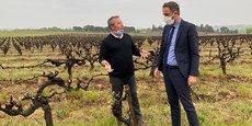 Le président de la Métropole de Montpellier, Michaël Delafosse, a rendu visite, samedi, aux vignerons de Juvignac et Saint-Georges-d'Orques.