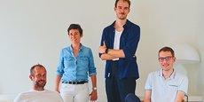 L'équipe fondatrice de Sweep, à Montpellier : Nicolas Raspal, Rachel Delacour, Raphaël Gueller et Yannick Chaze.