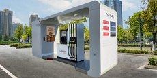La nano-station développée par Madic est une station-service compacte, pré-équipée et pré-testée en usine.
