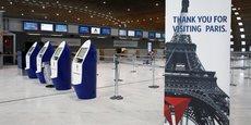 Photo d'illustration: l'aéroport de Roissy CDG en mars 2020, après la décision du président de la République de confiner totalement la France.