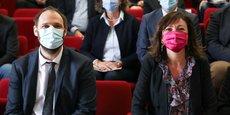 Vincent Bounes (Vice-Président de la région Occitanie) et Carole Delga (Présidente de Région).